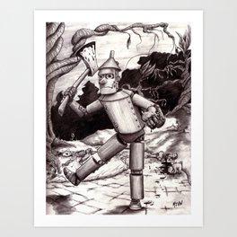 The Tin Man Gets His Heart Art Print