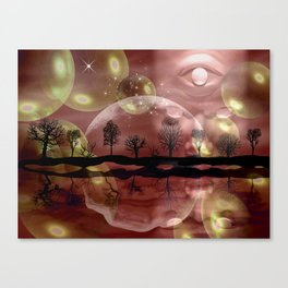 Space Planet Canvas Print