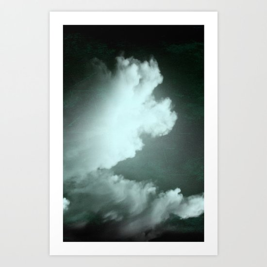 Bali tryptych - phone -green cloud Art Print