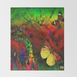 Dance of the Butterflies Throw Blanket
