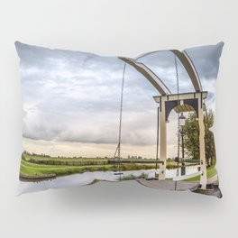 Canal and Bridge in Netherlands at Sunset Pillow Sham