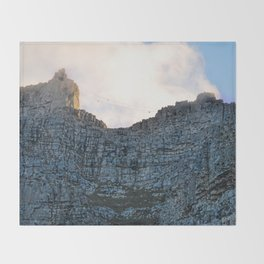 Table Mountain 7th wonder of the world Throw Blanket
