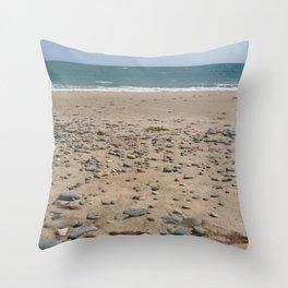 Welsh Beach Throw Pillow