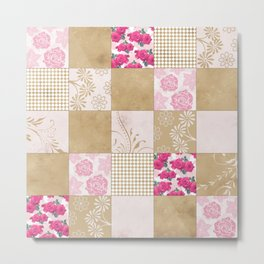 Spring Time - Patchwork Metal Print