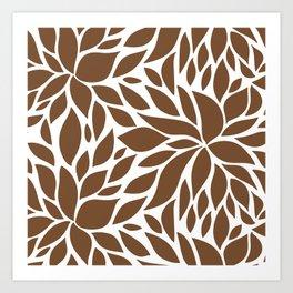 Bloom - Caramel Art Print