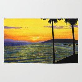 Pismo Beach, California- Sunset Rug