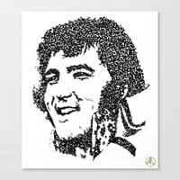 elvis presley Canvas Prints featuring Elvis Presley by The Curly Whirl Girly.