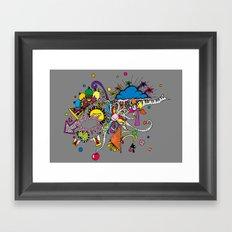 Colored Doodle Framed Art Print