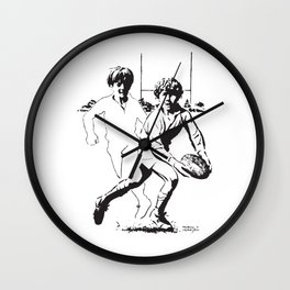 Rugby Junior Pass by PPereyra Wall Clock