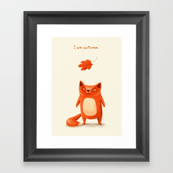 I am autumn (2) Framed Art Print