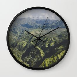 Mountain Ridges - Kauai, Hawaii Wall Clock