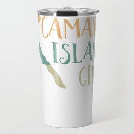 Cute Camano Island Girl Map Love Heart Retro Vintage Style Pullover Hoodie Travel Mug