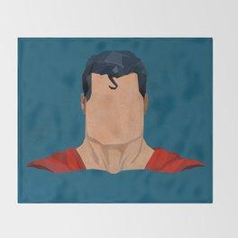 Antique Superman Throw Blanket