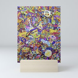 Yellow Sand Dollar Mini Art Print