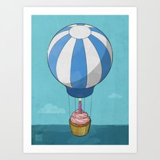 Flying Cupcake Art Print