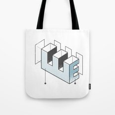 The Exploded Alphabet / E Tote Bag