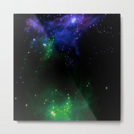 The Cosmos (blue and green) Metal Print