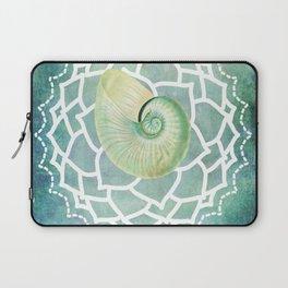 Shell Chakra Blue Laptop Sleeve