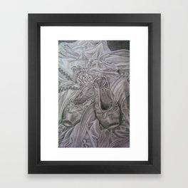 Ballet Slippers Framed Art Print