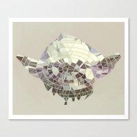 yoda Canvas Prints featuring Yoda by Messypandas