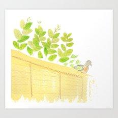 Pigeon in garden Art Print