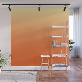 Orange Ombre Wall Mural