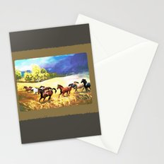 Horses Gallop as Summer Storm Approaches Stationery Cards