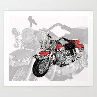 motorbike Art Prints featuring MotorBike by tuncay cavdar