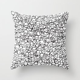Skulls by Caleb Throw Pillow