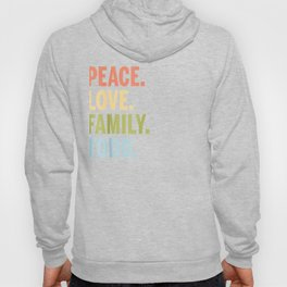 Todd Last Name Peace Love Family Matching Hoody