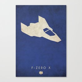 F-Zero X - Nintendo 64 Minimalist Canvas Print