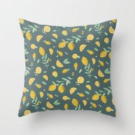 7th Lemon Throw Pillow