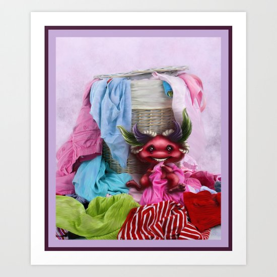 Are you missing any sock? - ¿Te falta un calcetín? Art Print