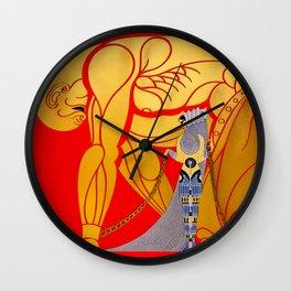 "Art Deco Design ""Samson & Delilah"" Wall Clock"