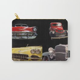 Chevy Collage of Classic Cars Carry-All Pouch