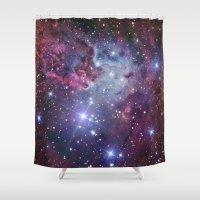 nebula Shower Curtains featuring Nebula Galaxy by Directapparelco