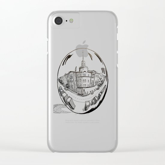 City in a glass ball Clear iPhone Case