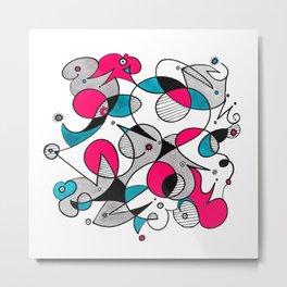 Abstract Birds Metal Print