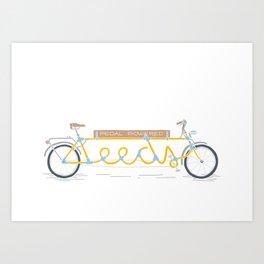 Pedal powered Leeds Art Print