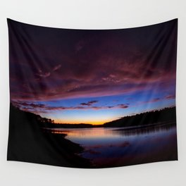 Sunset Over The Lake Wall Tapestry