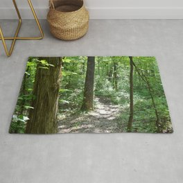 downhill through the trees Rug