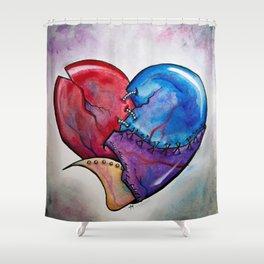 Broken Hearted by Joy Michelle Shower Curtain