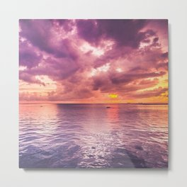 Purple sky Metal Print