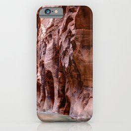Hike in The Narrows Zion National Park Utah iPhone Case