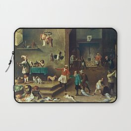 The Kitchen by David Teniers the Younger Laptop Sleeve