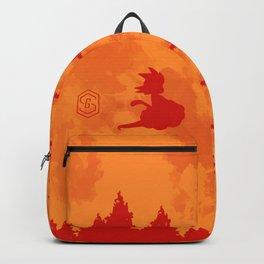 The Moon on Dragon Ball - Orange Backpack