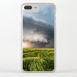 Leoti's Masterpiece - Incredible Storm in Western Kansas Clear iPhone Case