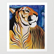 Golden Tiger Art Print