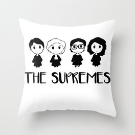The Supremes Throw Pillow