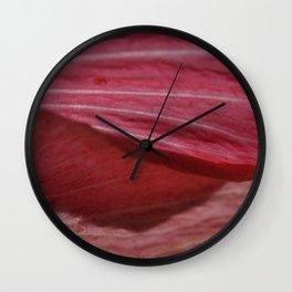Flower Petal Pink Flow Wall Clock